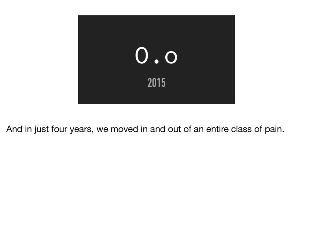 O.o 2015 And in just four years, we moved in an...