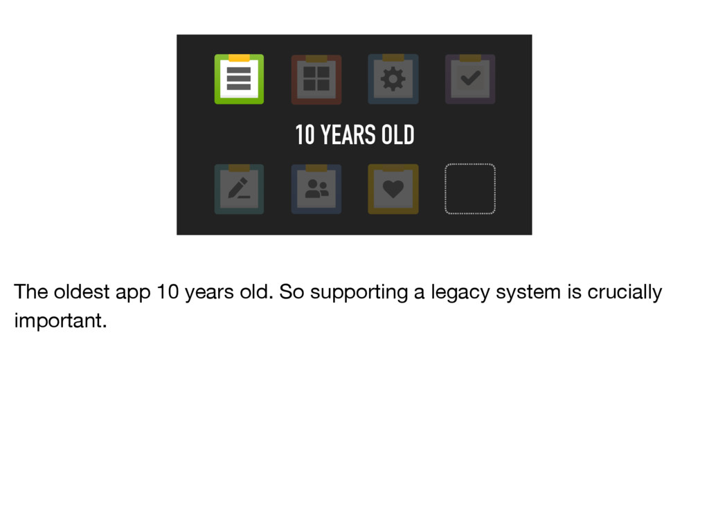 10 YEARS OLD The oldest app 10 years old. So su...