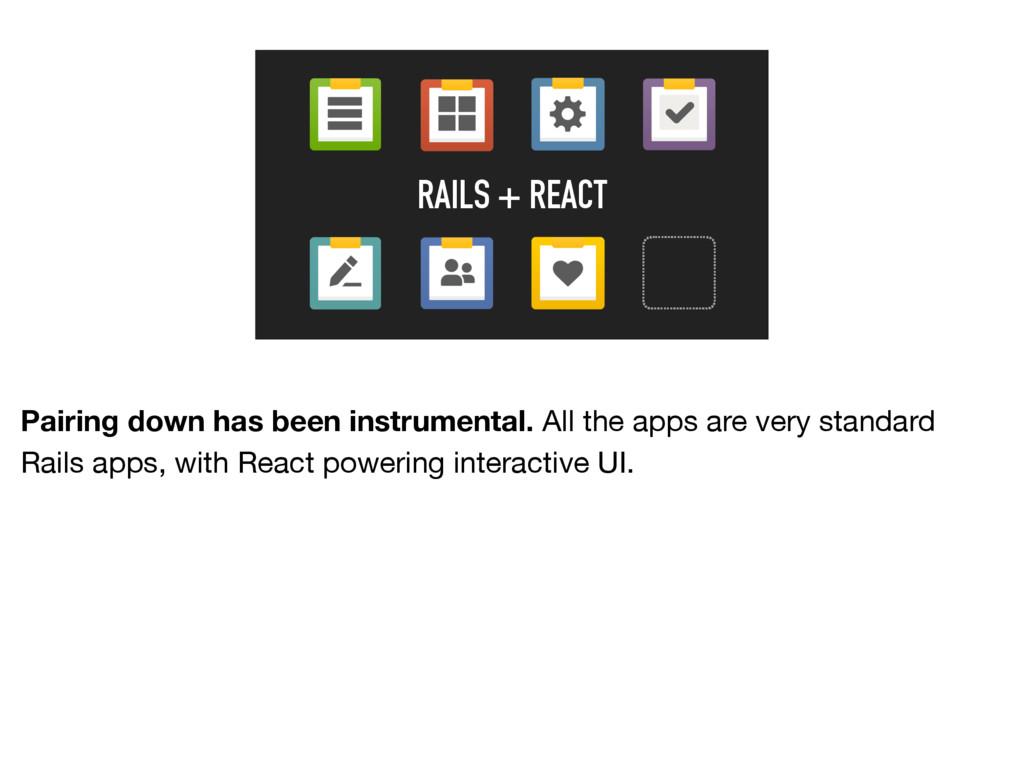 RAILS + REACT Pairing down has been instrumenta...