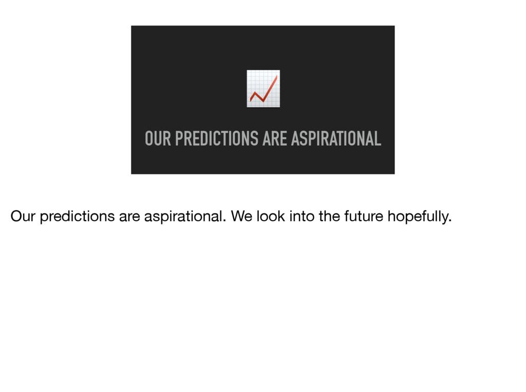 OUR PREDICTIONS ARE ASPIRATIONAL Our predictio...