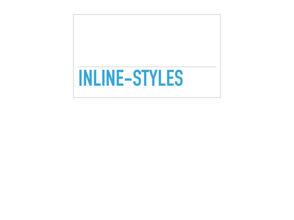 INLINE-STYLES