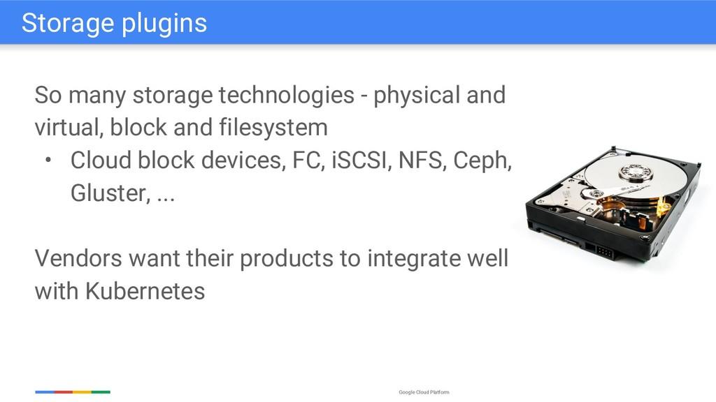 Google Cloud Platform So many storage technolog...