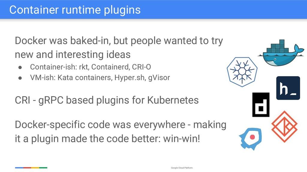 Google Cloud Platform Docker was baked-in, but ...