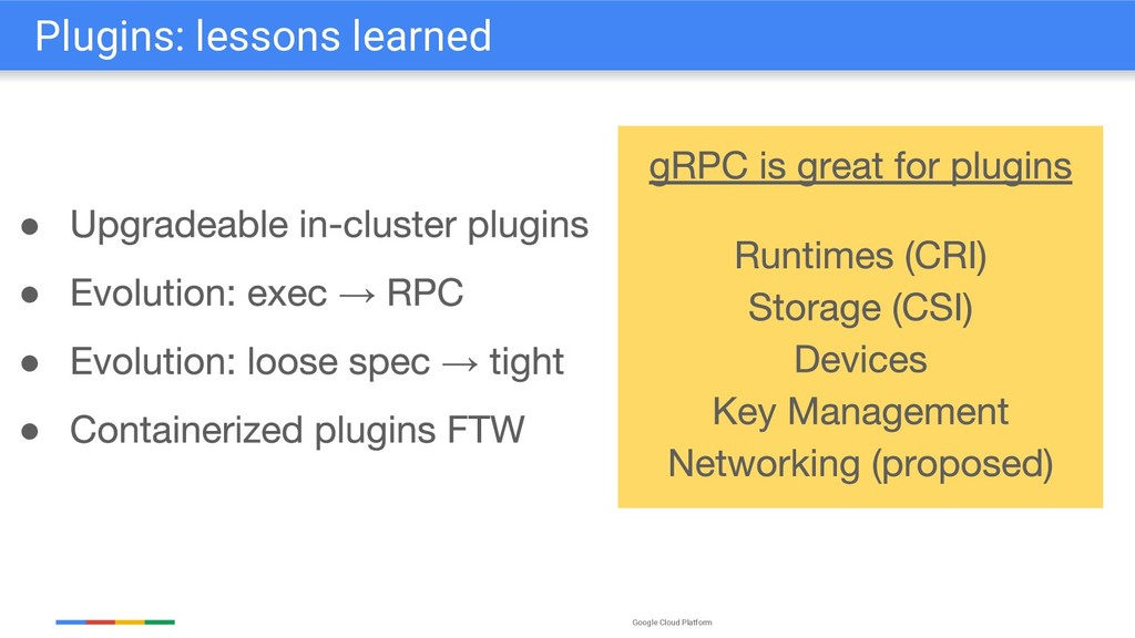 Google Cloud Platform Plugins: lessons learned ...