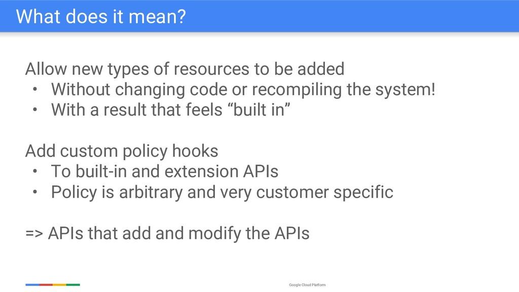 Google Cloud Platform Allow new types of resour...