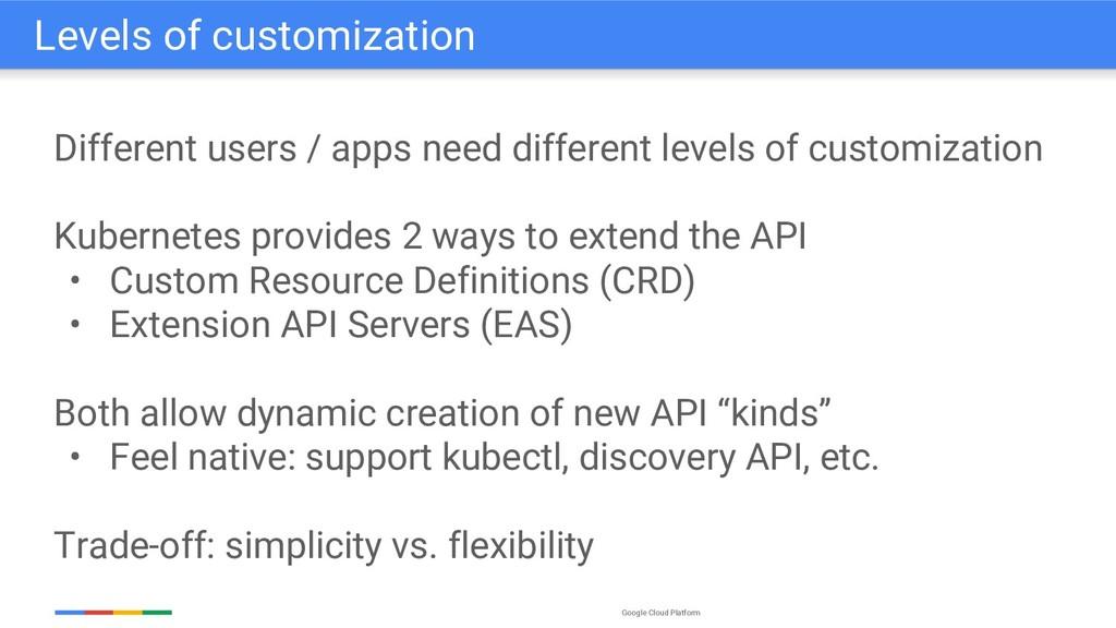 Google Cloud Platform Different users / apps ne...