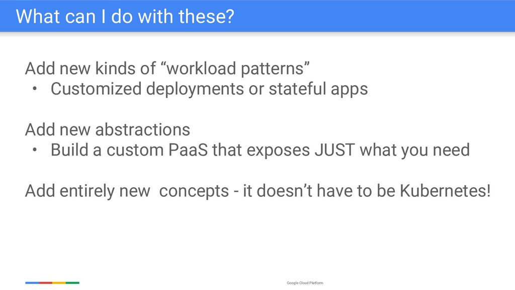 "Google Cloud Platform Add new kinds of ""workloa..."