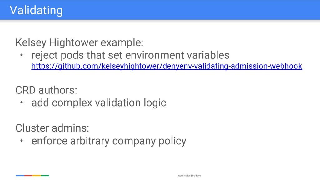Google Cloud Platform Kelsey Hightower example:...