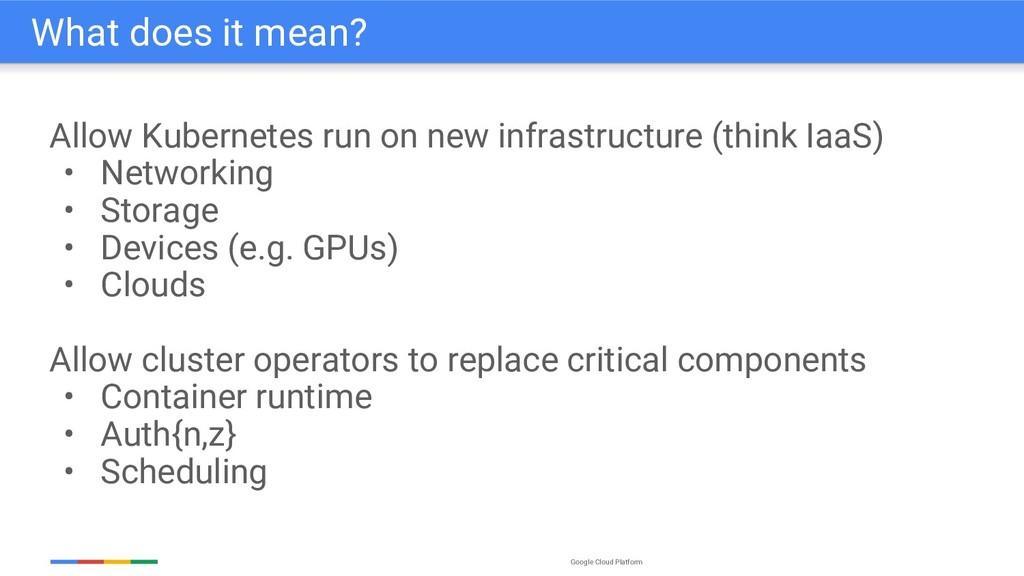 Google Cloud Platform Allow Kubernetes run on n...