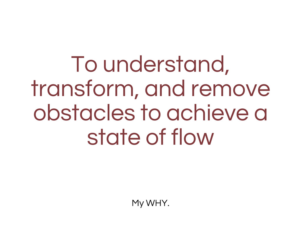 To understand, transform, and remove obstacles ...