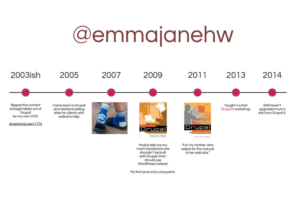 @emmajanehw 2003ish Ripped the content storage ...