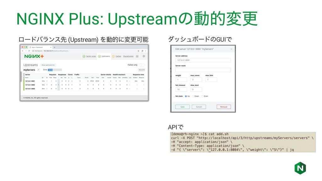 NGINX Plus: Upstreamͷಈతมߋ ϩʔυόϥϯεઌ (Upstream) Λ...