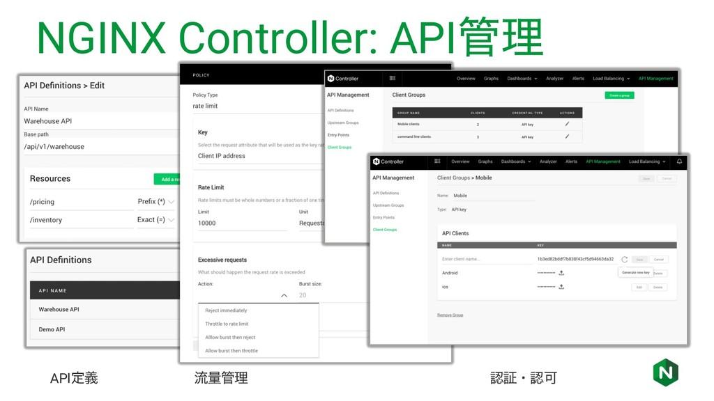 NGINX Controller: APIཧ APIఆٛ ྲྀྔཧ ূɾՄ