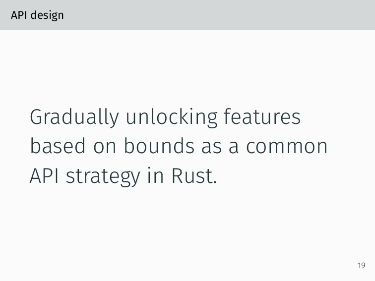API design Gradually unlocking features based o...