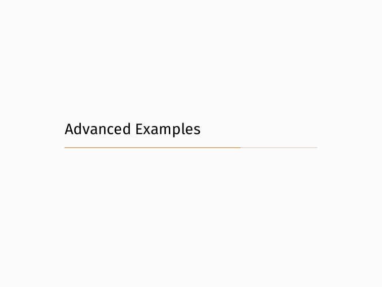 Advanced Examples