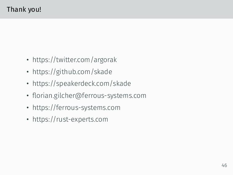 Thank you! • https://twitter.com/argorak • http...