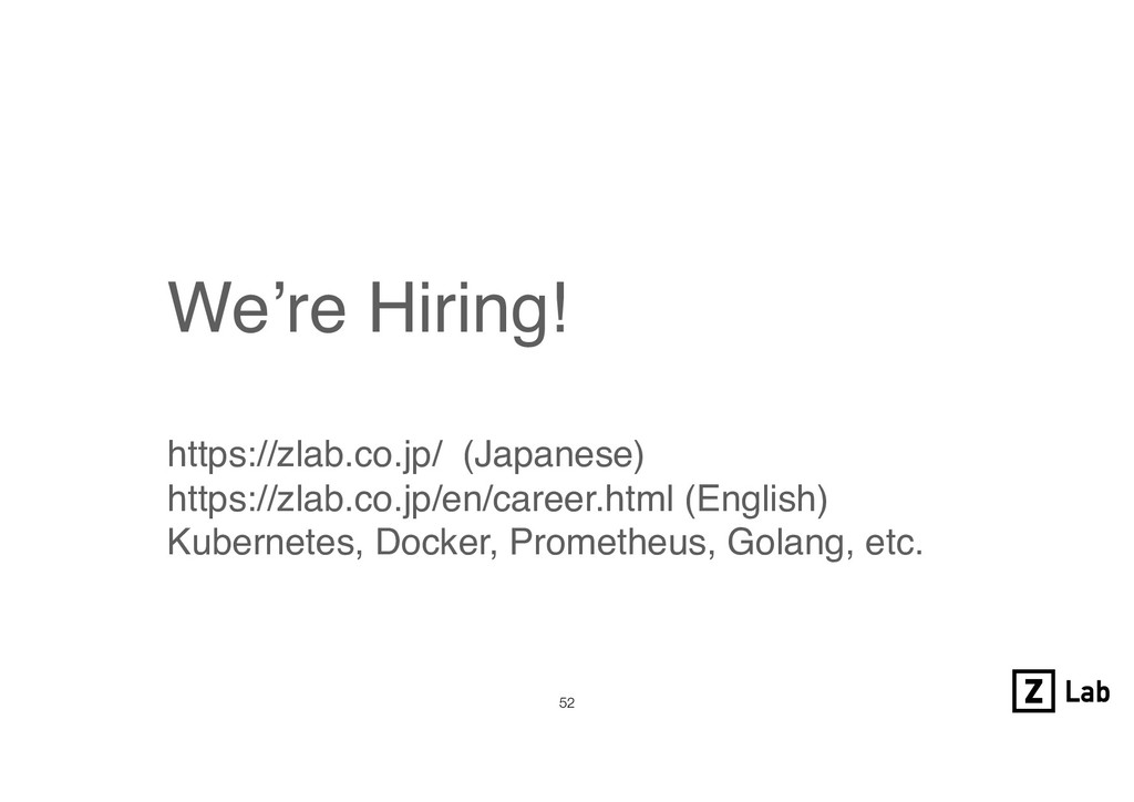!52 We're Hiring! https://zlab.co.jp/  (Japanes...