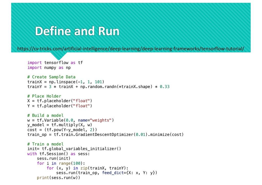 Define and Run https://cv-tricks.com/artificial...