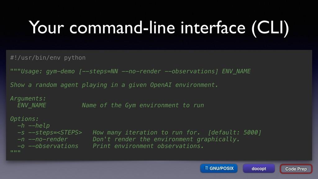 Your command-line interface (CLI) #!/usr/bin/en...