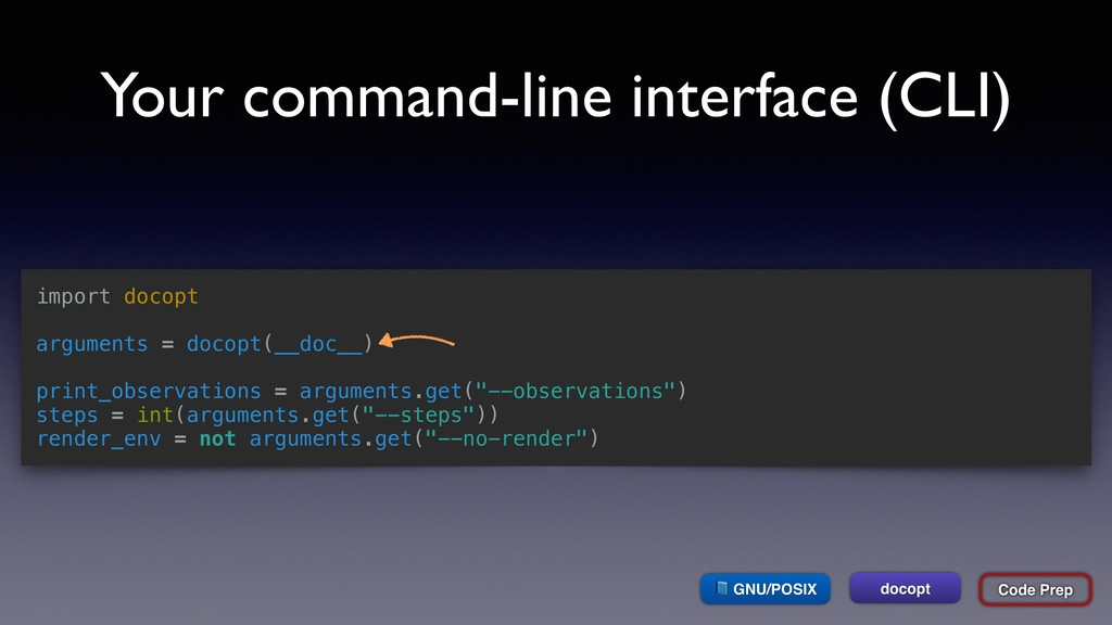 Your command-line interface (CLI) import docopt...