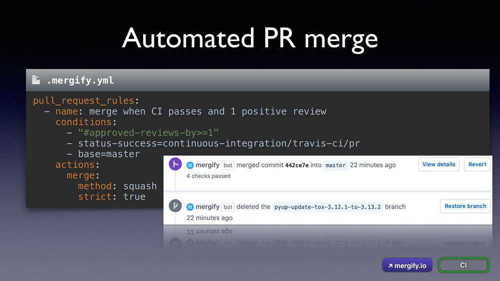Automated PR merge pull_request_rules: - name: ...