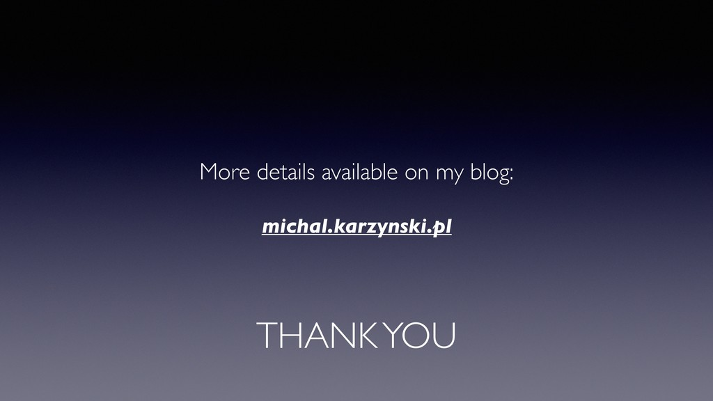 THANK YOU More details available on my blog: mi...