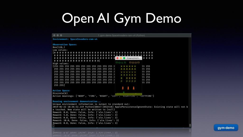 Open AI Gym Demo gym-demo