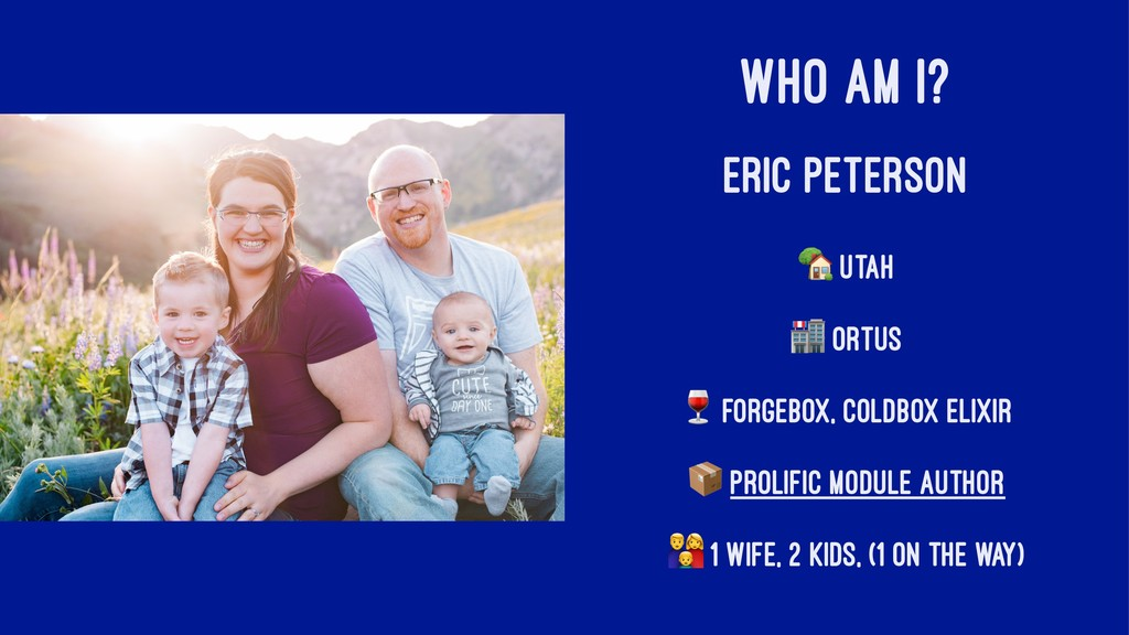 "WHO AM I? ERIC PETERSON ! Utah "" Ortus # ForgeB..."