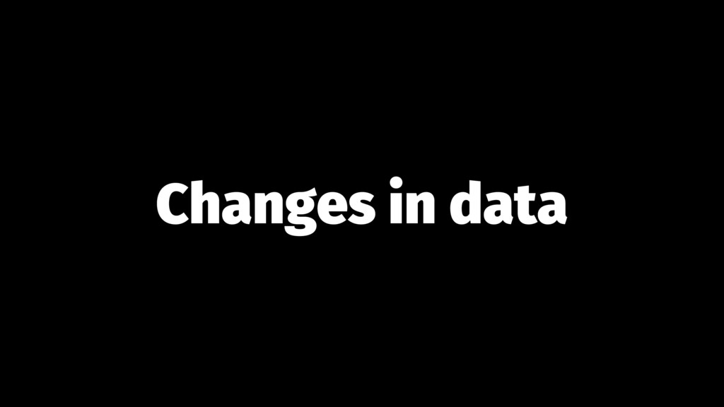 Changes in data