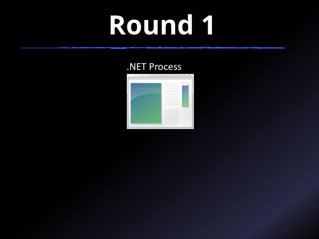 Round 1 .NET Process