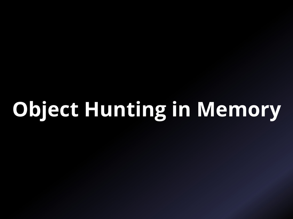 Object Hunting in Memory