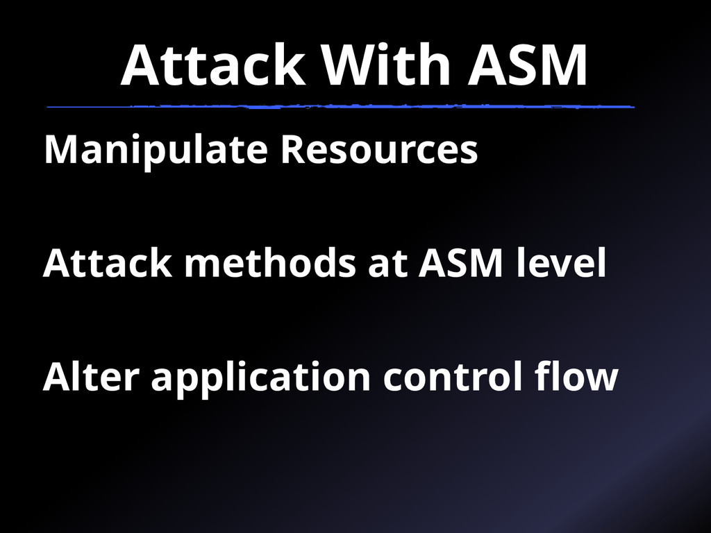 Attack With ASM Manipulate Resources Attack met...