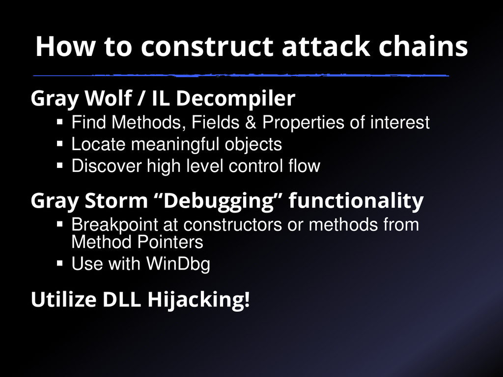 How to construct attack chains Gray Wolf / IL D...