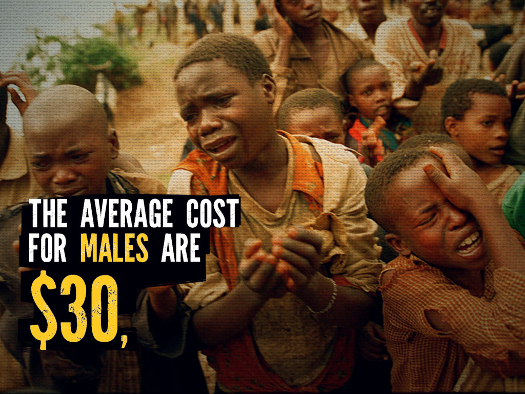 $30, THE AVERAGE COST FOR MALES ARE