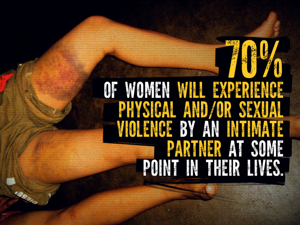 OF WOMEN WILL EXPERIENCE PHYSICAL AND/OR SEXUAL...