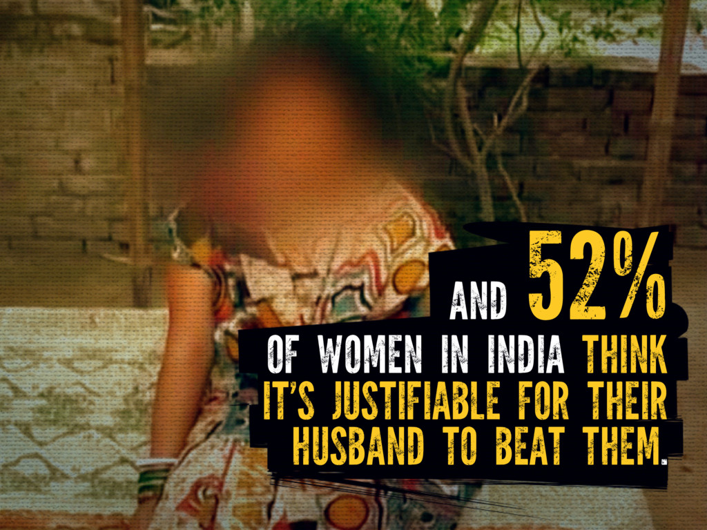 OF WOMEN IN INDIA THINK IT'S JUSTIFIABLE FOR TH...