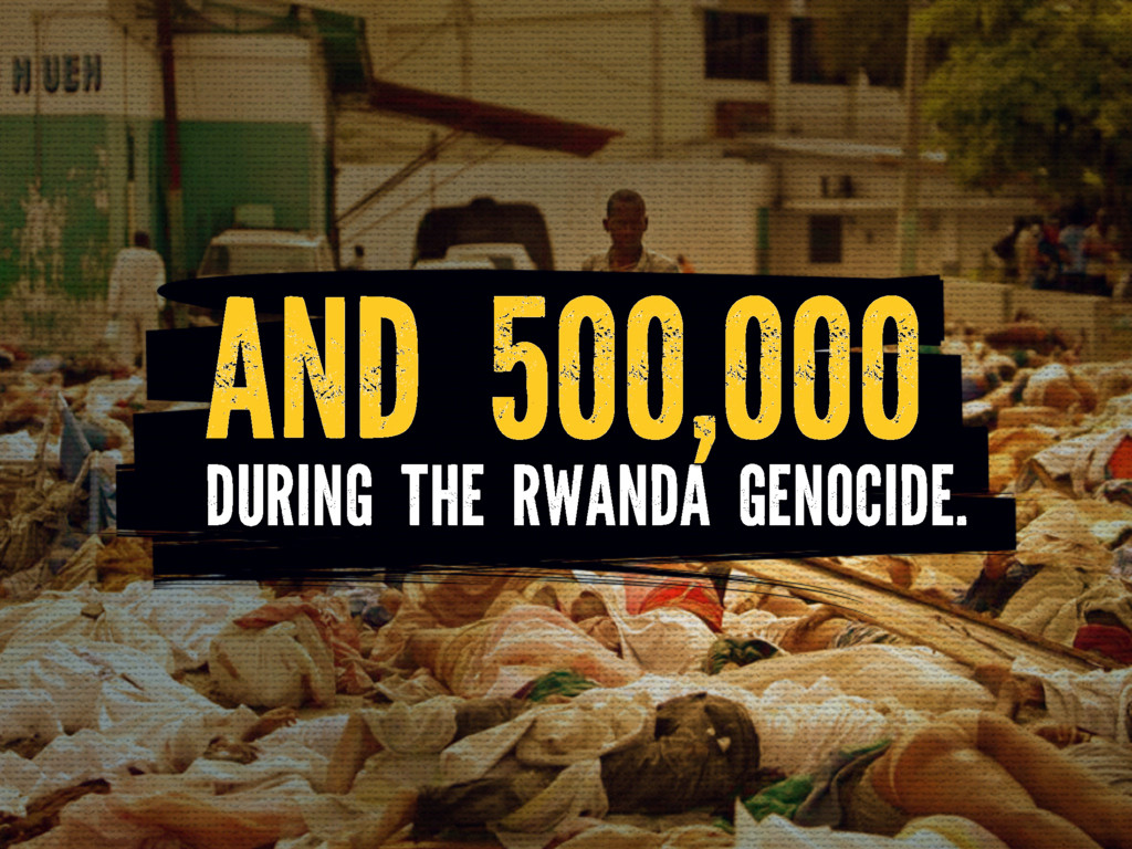 DURING THE RWANDA GENOCIDE. AND 500,000