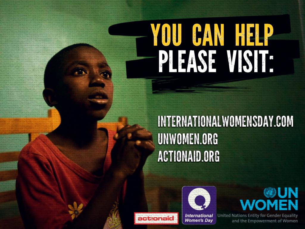 YOU CAN HELP PLEASE VISIT: INTERNATIONALWOMENSD...