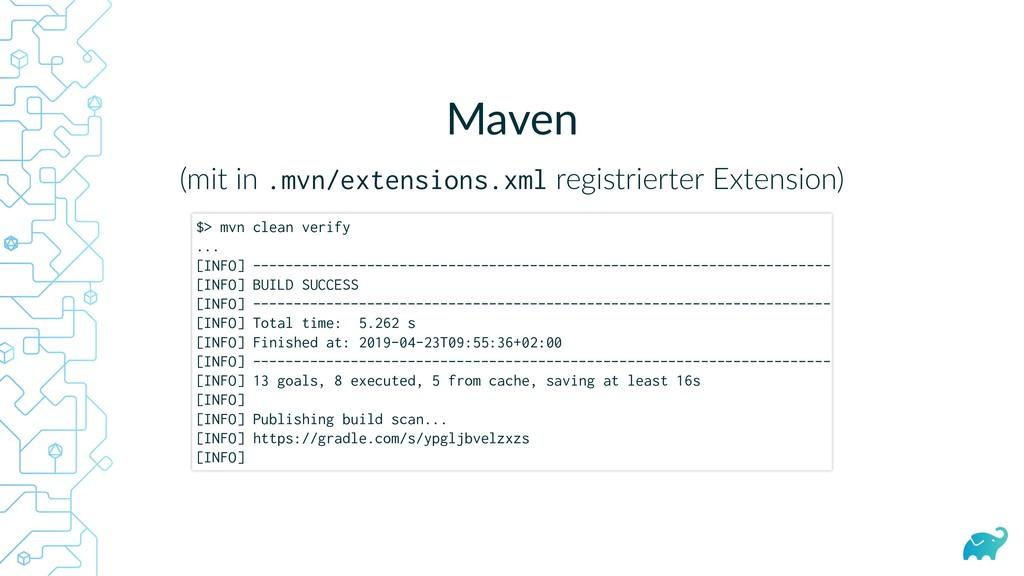 Maven (mit in .mvn/extensions.xml registrierter...