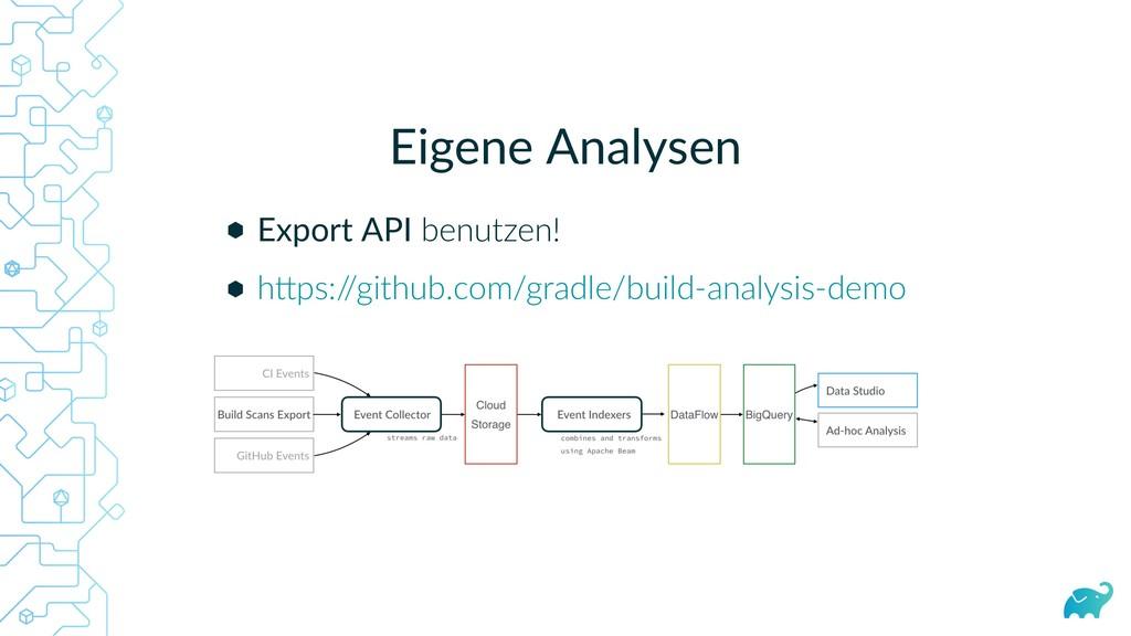 Eigene Analysen Export API benutzen! h ps:/ /gi...
