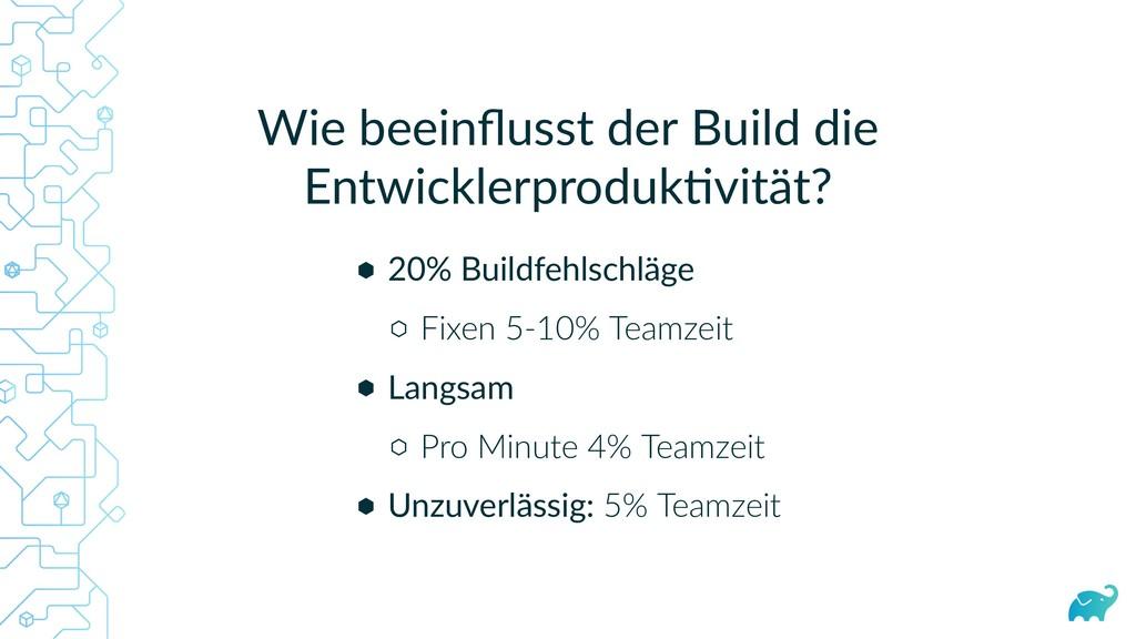 Wie beeinflusst der Build die Entwicklerproduk v...