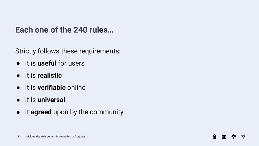 13 Strictly follows these requirements: ● It is...
