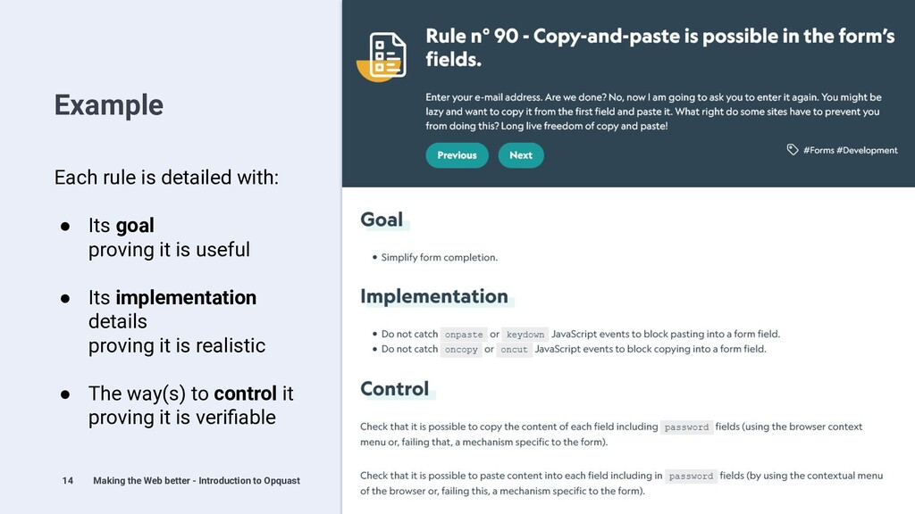 14 Example Making the Web better - Introduction...