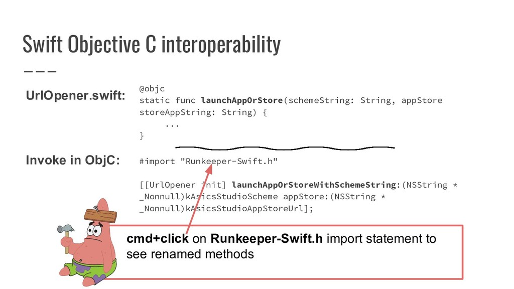 Swift Objective C interoperability @objc static...