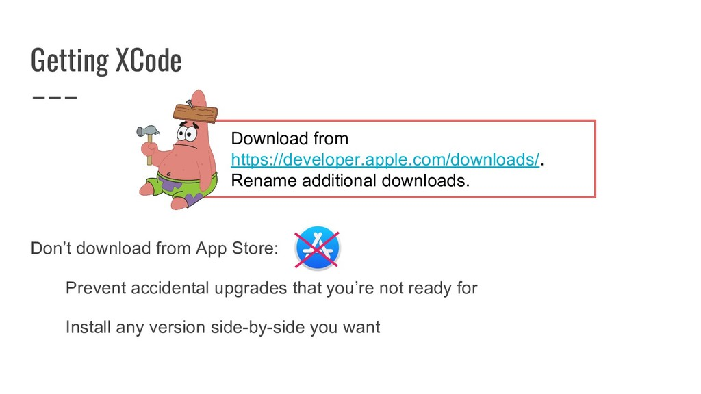 Getting XCode Don't download from App Store: Pr...
