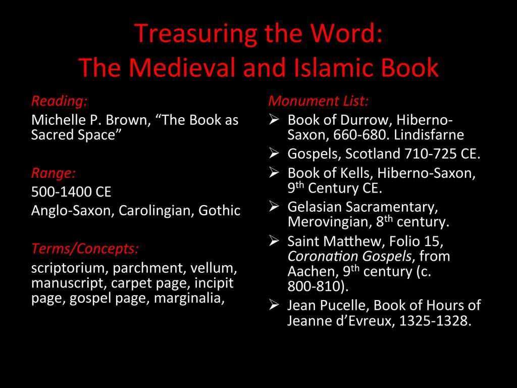 Treasuring the Word:   The Medie...