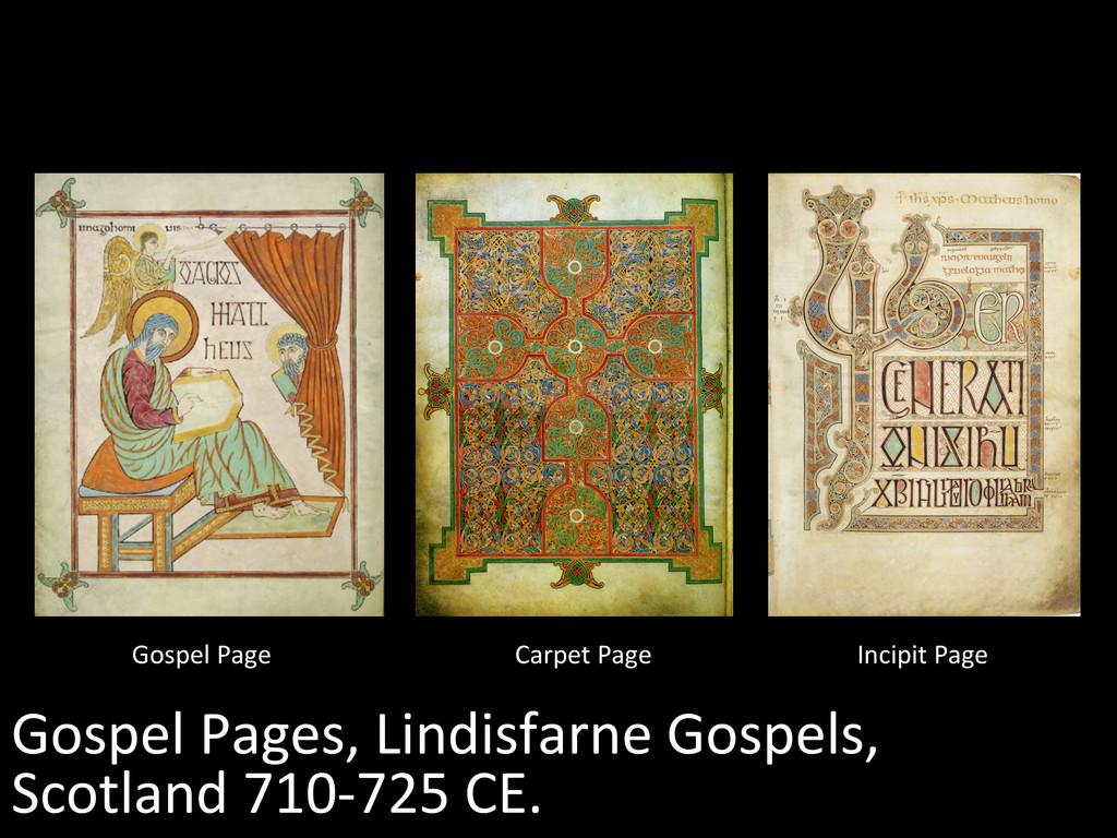 Gospel Pages, Lindisfarne Gospels, ...