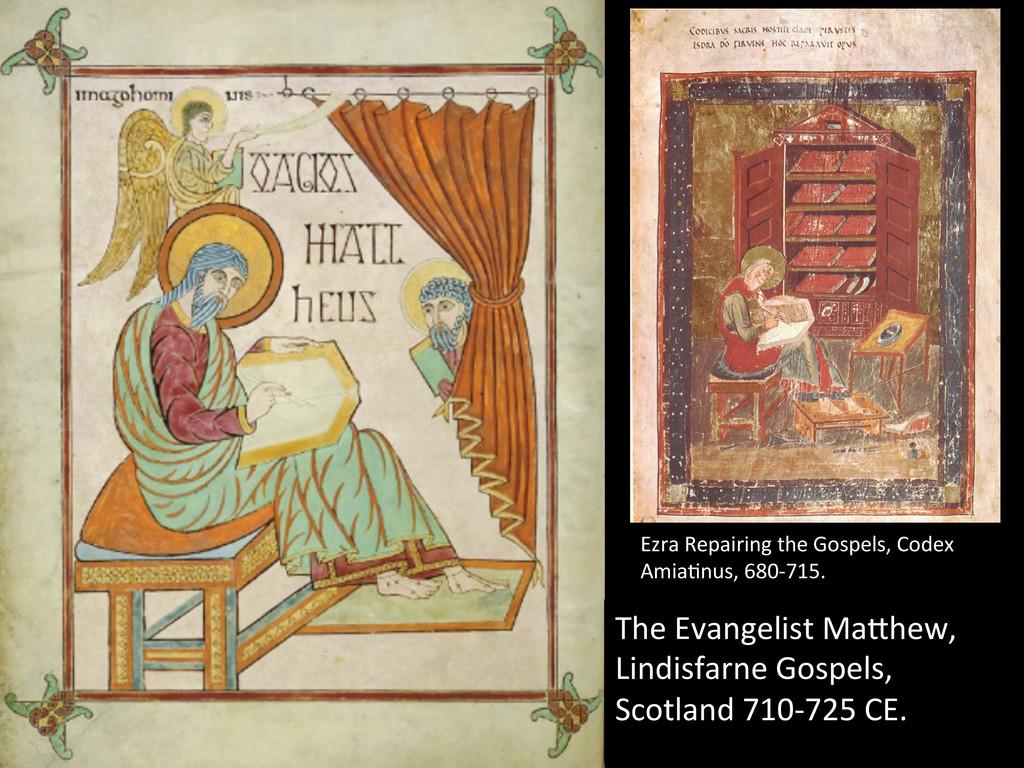 The Evangelist MaWhew,  Lindisfarne ...