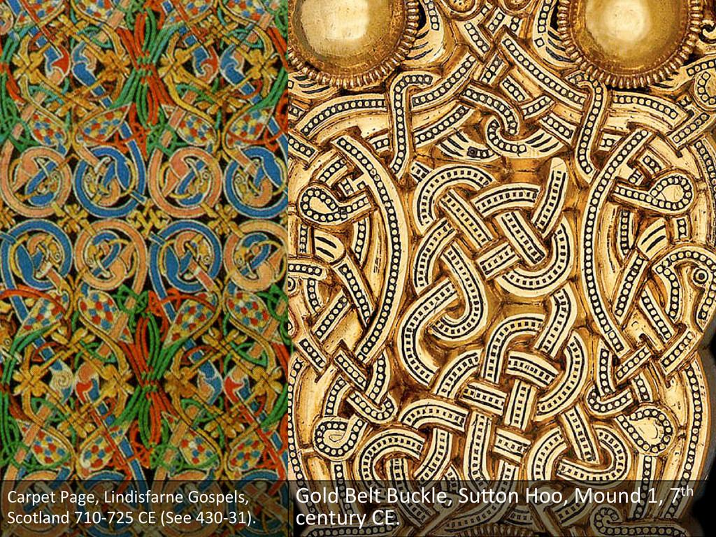 Carpet Page, Lindisfarne Gospels,  ...