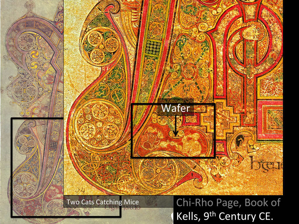 Chi-‐Rho Page, Book of  Kells, ...